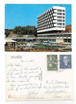 Hammamet Tunisia Hotel Amilcar Vue Ensemble Vintage 1965 Postcard 4X6 Sc... - $4.99