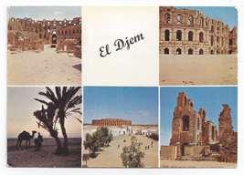 Tunisia El Djem Roman Ruins Vintage Multiview H Ismail 1965 Postcard 4X6 - $4.99