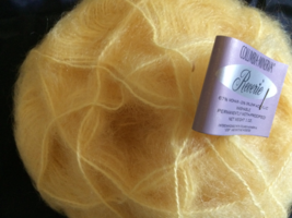 Columbia Minerva REVERIE 17 Balls Color:Daffodil Mohair Blend New - $35.00