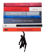 Gifts Book Hero Bookend Funky Design Superhero Metal Superman Batmen Ori... - $45.00