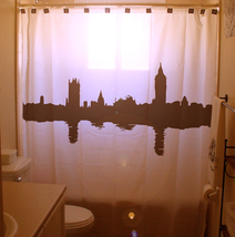SHOWER CURTAIN city London Westminster England uk abbey - $89.99