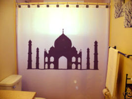 SHOWER CURTAIN monument Taj Mahal Agra India love - $79.99