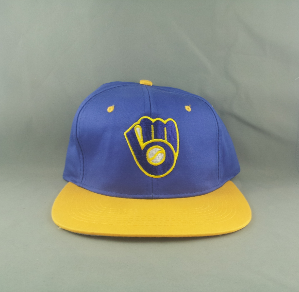 official photos e2e06 ef9dc Img 2296391382 1438549215. Img 2296391382 1438549215. Previous. Milwaukee  Brewers Hat (VTG) -By Drew Perason - Adult Snapback ...