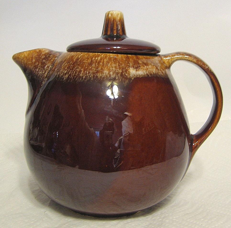 Hull Pottery Teapot Drip Glaze - Hull