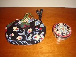 Vera Bradley Versailles Button Coin Purse And Sugar Free Mints - $30.99