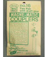1 PACK NOS KADEE NO. 16 MAGNE-MATIC COUPLERS - TWO PAIR WITH DRAFT GEAR - $6.99