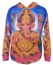 kc13 L Yoga Hoodie Ganesh Hindu Zen Om SHIWA India Yoga Buddha Ganesha p... - $28.70