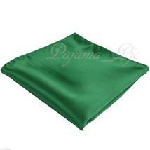 New Men Emerald Green Micro Fiber Solid Handkerchief Pocket Square Hanky... - $4.78