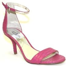 Women's Michael Kors KRISTEN MID Dress Sandal Embossed Leather Fuchsia Hot Pink - $79.95