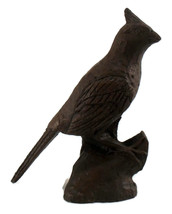 Cardinal Bird Vintage Carved Cast Resin Figurine Collectible Bird - $6.00