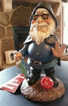 "BEARDO the GEEK GARDEN GNOME 9"" Resin Figure Statue Yard Fun Gag Gift Ne... - $29.01"