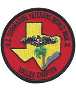 US Navy Submarine Veteran Valley Chapter Texas Base Military Patch WORLD... - $11.87