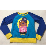 Devil Nut S Small Blue Yellow Hiphop Crew Front Back Graphic Sweatshirt ... - $22.49