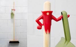 Home Gifts Office Dustpan Holder Broom Hanger New Smart Funky Design Org... - $17.00