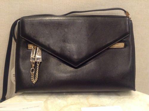 CHLOE BLACK/NAVY CASSIE LEATHER SHOULDER BAG $1290