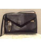 CHLOE BLACK/NAVY CASSIE LEATHER SHOULDER BAG $1290 - $309.99