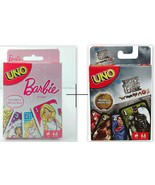 Combo Barbie + Justice League UNO Card Games Brand new sealed Original M... - $21.99