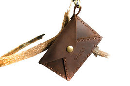 Leather Card Holder, Credit Card Keychain - $19.99