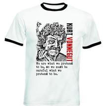 Kurt Vonnegut  New Black Ringer Cotton Tshirt - $26.49