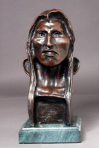 """""""The Savage"""" Solid Bronze Sculpture Statue by F... - $373.75"""