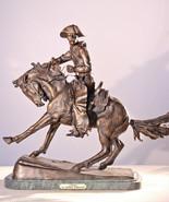 """Cowboy"" Pure Bronze Statue Sculpture by F. Remington Regular - $1,200.00"