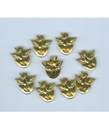 9 Chick Hatching From Egg Brass Craft Embellishments Easter Spring  - $5.49