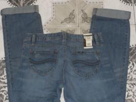 Lee Austen Relaxed Cuffed Hem Midrise Boyfriend Jeans - $19.99