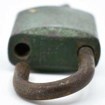 "Vintage ILCO Green 2.5"" Padlock Working Lock & Key image 5"