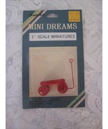Mini Dreams Little Red Wagon Doll House Shadow Box Holiday Décor - $5.00