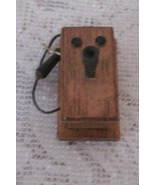 Mini Old Fashioned  Wooden Wall Telephone Doll House Collage Collection - $4.50