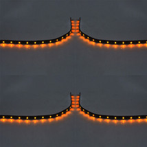 4 X 15 LED 30cm Car Vehicle Flexible Waterproof Strip Light Yellow 12V Sales - $4.59