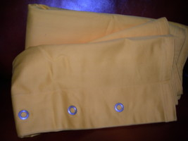 Tommy Hilfiger Classic Chino 2 Pc Euro Shams Set Poster Yellow Solid  Bnwop - $75.23