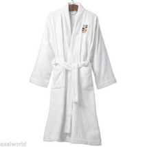 "ORLA KIELY  ""STEM"" 1pc JACQUARD  BATH ROBE WHITE L/XL NEW IN GIFT BOX LA... - ₹7,361.71 INR"