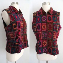 The Territory Ahead womens colorful Moroccan tapestry print vest size 8 ... - $34.99