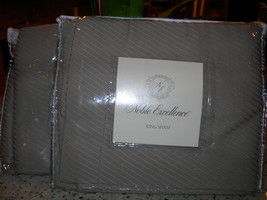 """Noble Excellence """" Taupe """" 2PC King Sham Solid Nib - $47.02"""
