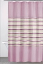 "DKNY   ""SAHARA STRIPE""  1PC SHOWER CURTAIN   MAUVE  72x72 ~bnip~ - $44.64"