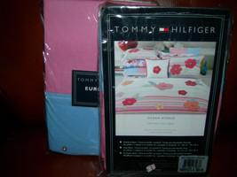 Tommy Hilfiger Oc EAN Avenue 2PC Euro Sham PINK/BLUENIP - $75.23