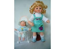 "GEPPEDDO PORCELAIN DOLLS ""Liz & Baby Terry"" - $33.65"