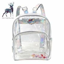Transparent Backpack Bag Clear Fashion Style Book Bags Women Plastic Hea... - €21,24 EUR