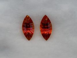 Strawberry Pink Topaz marquise gem pair 15 x 7mm each - $19.99