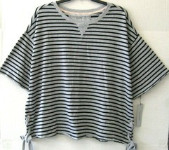 Calvin Klein Performance Top Tee Shirt Gray Stripe Size 3X Plus $69 NEW ... - $41.57