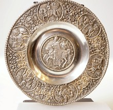 PEWTER PLATE CHARGER EMPEROR FERDINAND III ON H... - $138.03