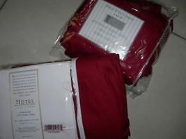 HOTEL 5PC F/QUEEN DUVET/SHEET SET RED 600 TH/COUNT NIP - $216.19
