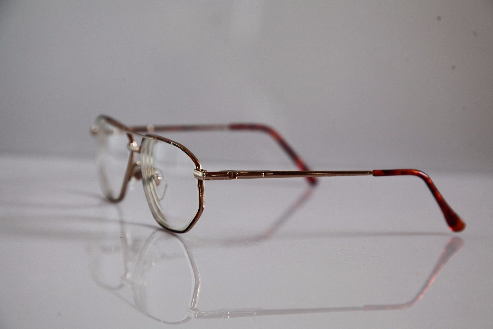 Eyewear, Gold Frame,  RX-Able  Prescription lenses.