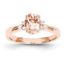 Unique 1.20ct Morganite Diamond Oval Three Stone Antique Vintage Engagem... - £560.24 GBP