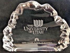 University Utah David Eccles School Of Business crystal Recognition Awar... - $25.91