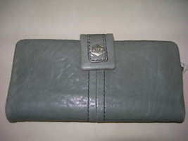 LODIS -WALLET CEDIT CARDS GREY LEATHER  #233SY NWT $118 - $84.59