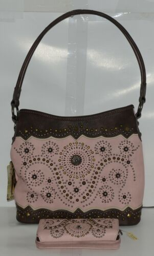 Montana West Collection MW678G 8284 Medium Faux Leather Pink Conceal Carry Purse