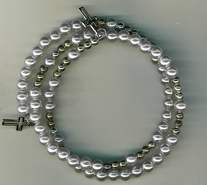 Primary image for Bracelet Rosary - Light Blue Beads