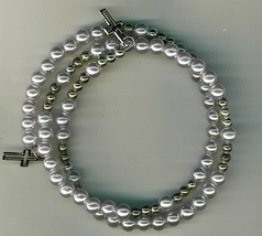 Bracelet Rosary - Light Blue Beads